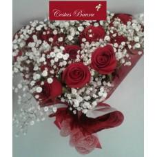 Buquê de Rosas Dia da Mulher - 1 dúzia